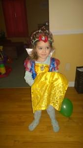 The birthday girl in full Snow White attire :)