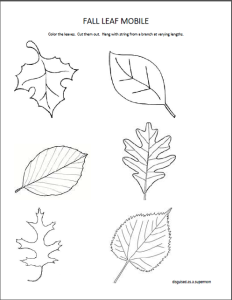 Leaf Mobile Printable