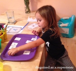 Building her sight words